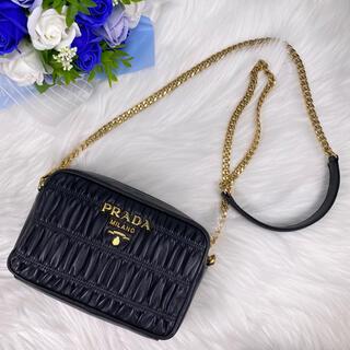 PRADA - ✨美品✨PRADA プラダ ナッパ ゴーフル チェーン ショルダーバッグ