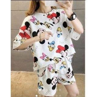Disney - 【大人気商品!】レディース ミッキーウェア パジャマ セット  韓国