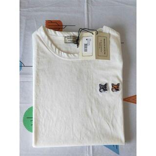 新品 MAISON KITSUNE メゾンキツネ Tシャツ S ホワイト
