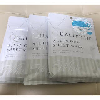 クオリティファースト(QUALITY FIRST)のクオリティファースト オールインワンシートマスク ホワイトEX (パック/フェイスマスク)