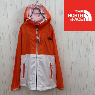 ザノースフェイス(THE NORTH FACE)の【☆新品☆】ノースフェイス ウインドブレーカー  オレンジ×ホワイト メンズS(ナイロンジャケット)