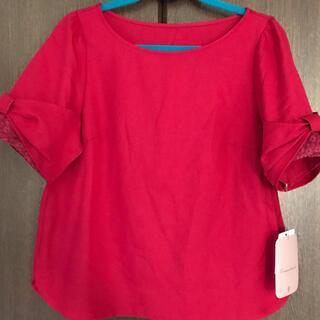 クチュールブローチ(Couture Brooch)のクチュールブローチ WORLD 新品タグ付き 袖レースリボン 38/M(カットソー(半袖/袖なし))