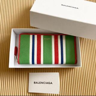 バレンシアガ(Balenciaga)の【新品未使用】BALENCIAGA バレンシアガ 長財布 マルチストライプ (長財布)
