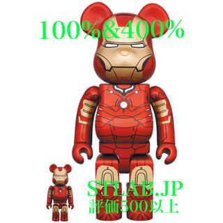 メディコムトイ(MEDICOM TOY)のBE@RBRICK IRON MAN 葛飾北斎 100% & 400% セット(その他)