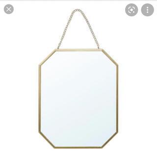 イケア(IKEA)のIKEA ミラー ゴールド ラスビーン 新品 ブライダル ウェルカムスペース(卓上ミラー)