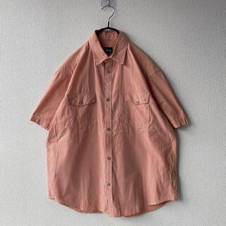 ステューシー(STUSSY)の90s USA製 STUSSY ギンガムチェック 半袖 シャツ タグ オールド(シャツ)
