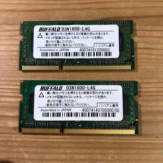 バッファロー(Buffalo)のノートPC メモリ4G D3N1600-L4G(PCパーツ)