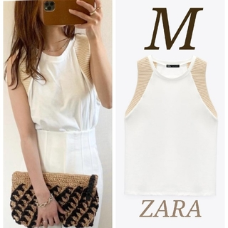 ZARA - 新品 コントラスト Tシャツ M 完売品