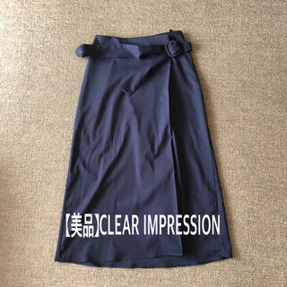 CLEAR IMPRESSION - 【美品】クリアインプレッション ラップ風スカート