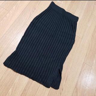 グレイル(GRL)のニットスカート 黒(ひざ丈スカート)
