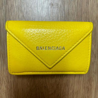 Balenciaga - バレンシアガ ペーパーミニウォレット 三つ折り財布 イエロー