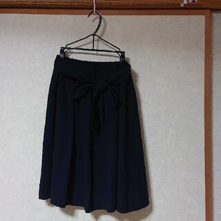 テチチ(Techichi)の【春、夏、秋、冬】テチチ フレアスカート ネイビー Mサイズ(ひざ丈スカート)