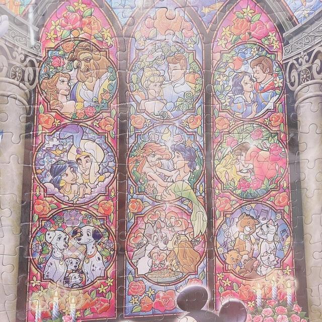 Disney(ディズニー)のディズニー ジグソーパズル ウェディング フレーム付 完成品 エンタメ/ホビーのおもちゃ/ぬいぐるみ(キャラクターグッズ)の商品写真