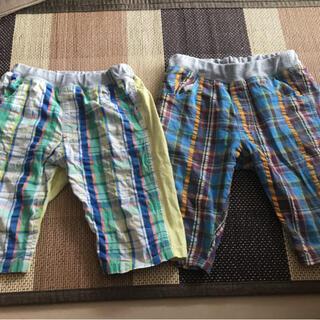 ムージョンジョン(mou jon jon)のチェックハーフパンツ 二枚セット 130  丸高衣料 リトルベアークラブ(パンツ/スパッツ)