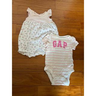ベビーギャップ(babyGAP)のフリルロンパース ピンク ベビーギャップ ロンパース(ロンパース)