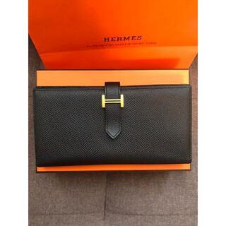 Hermes - 値下げしました。エルメス 財布 ベアンスフレ ブラック