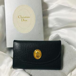 Christian Dior - クリスチャンディオール CDポイント キーケース 未使用箱付き ブラック