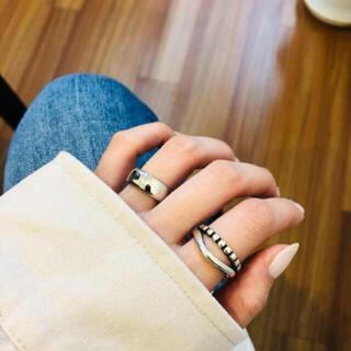 アメリヴィンテージ(Ameri VINTAGE)の038◇ オシャレ デザイン シルバー リング 2点set レディース メンズ(リング(指輪))
