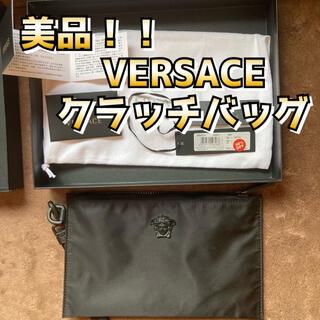 ヴェルサーチ(VERSACE)の美品 ヴェルサーチ ナイロンクラッチバッグ(セカンドバッグ/クラッチバッグ)