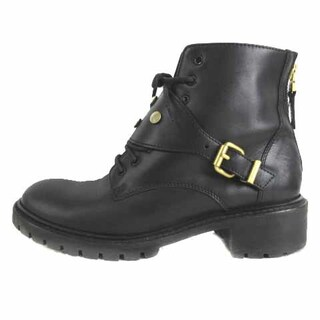 フェンディ(FENDI)のフェンディ スタッズ ショートブーツ ブーツ レザー 黒 ブラック 36.5(ブーツ)