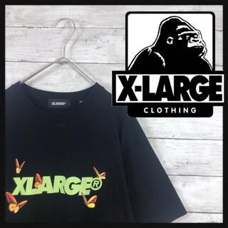 XLARGE - 【希少プリントエクストララージ】 鳳蝶 アゲハ蝶柄プリント ビックコングロゴ
