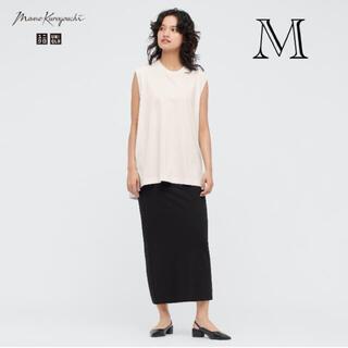 UNIQLO - 【美品】mame エアリズムコットンスリットスカート ブラック M