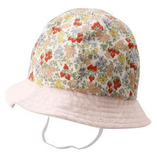ブランシェス(Branshes)のBranshes木の実柄×花柄レースデザインベビーハット(帽子)