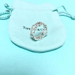 Tiffany & Co. - 【美品】Tiffany & Co. ラビングハート バンド リング 指輪 9号