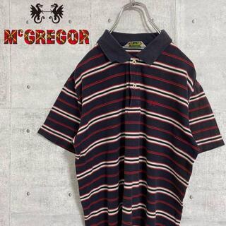 マックレガー(McGREGOR)のマックレガー ポロシャツ 半袖 ボーダー かわいい ワンポイント刺繍ロゴ(その他)