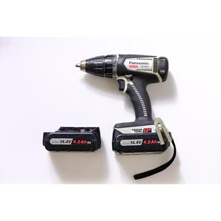 パナソニック(Panasonic)のパナソニック 充電式 ドリルドライバー EZ74A1 バッテリー2個セット(工具/メンテナンス)