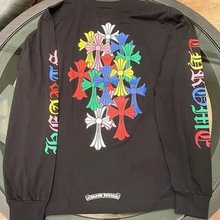 クロムハーツ(Chrome Hearts)の【新作   国内正規品】 クロムハーツ マルチカラー バッククロス L(Tシャツ(半袖/袖なし))