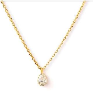 agete - ageteアガットK18ペアシェイプダイヤモンドネックレス