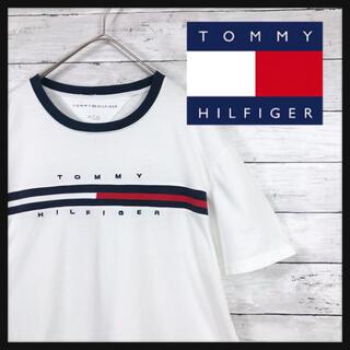 TOMMY HILFIGER - 【トミーヒルフィガー美品】 フロントビックロゴ刺繍美品綺麗目ファッションオススメ