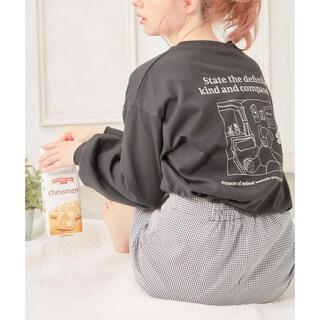 イング(INGNI)の(新品)イング Back線画くまロングTシャツ(Tシャツ(長袖/七分))