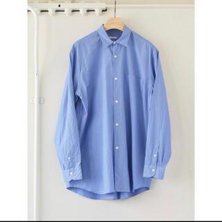 COMOLI - COMOLI 2021AW 新作 コモリシャツ サックス サイズ3 新品未使用