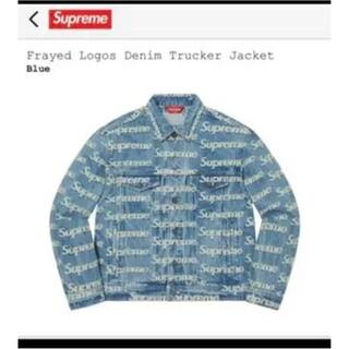 Supreme - supreme frayed logos denim truckerjacket