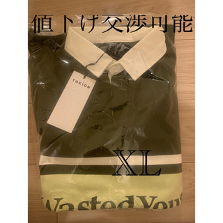 wasted youth tokion コラボ ラガーシャツ グリーン