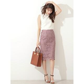 N.Natural beauty basic - N.NATURAL BEAUTY BASIC*ケミカルレースタイトスカート