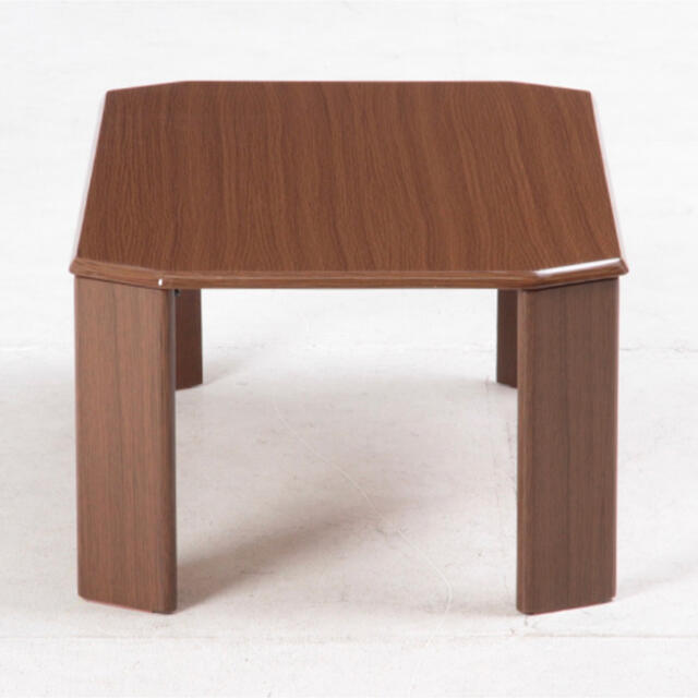 ローテーブル ウッディ 75×50cm ミディアムブラウン インテリア/住まい/日用品の机/テーブル(ローテーブル)の商品写真