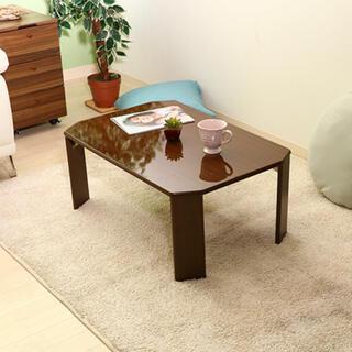 ローテーブル ウッディ 75×50cm ミディアムブラウン(ローテーブル)