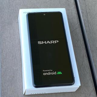 アクオス(AQUOS)の【新品】SHARP AQUOS sense4  basic ブラック(スマートフォン本体)