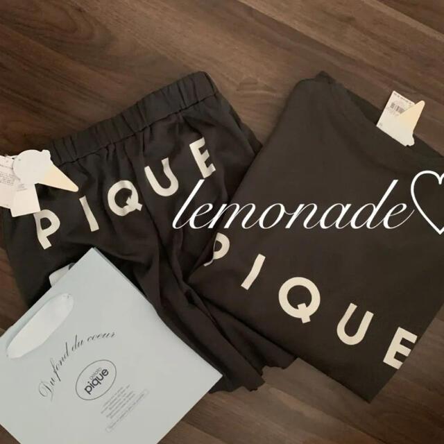 gelato pique(ジェラートピケ)のスポーティーロゴポンチショートパンツ上下セット♡ダークグレー レディースのルームウェア/パジャマ(ルームウェア)の商品写真