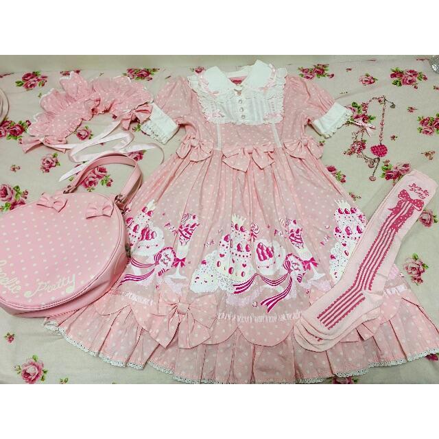 Angelic Pretty(アンジェリックプリティー)のアンジェリックプリティ ワンピース レディースのワンピース(ひざ丈ワンピース)の商品写真