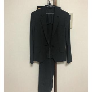 スーツカンパニー(THE SUIT COMPANY)のスーツ パンツスーツ 黒ストライプ セット 11号(スーツ)