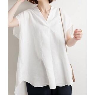 IENA - IENA【イエナ】☆リネンノースリーブスキッパーシャツ 新品ホワイト