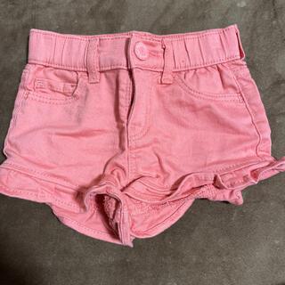 ベビーギャップ(babyGAP)のbabyGAP 裾フリル ピンク ショートパンツ 90cm(パンツ/スパッツ)