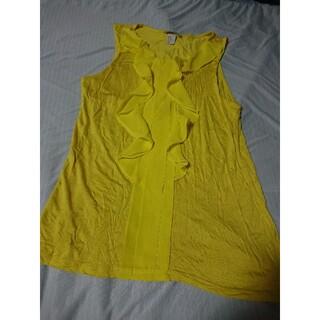 エイチアンドエム(H&M)の黄色 H&M エイチアンドエム フリル レース(シャツ/ブラウス(半袖/袖なし))