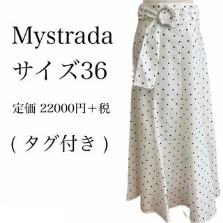 Mystrada - 【タグ付き】Mystrada♡ドット柄フレアスカート♡Arpege story