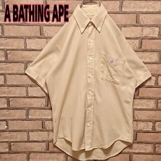 アベイシングエイプ(A BATHING APE)のA BATHING APE ワンポイント 刺繍 ロゴ メンズ 半袖 シャツ(シャツ)