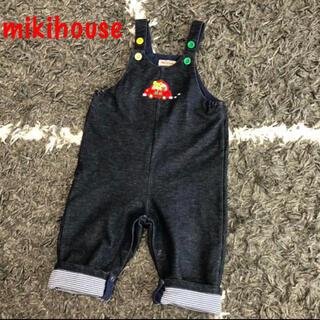 mikihouse - ミキハウス プッチーくん 刺繍 オーバーオール 80 サロペット オールイン 車